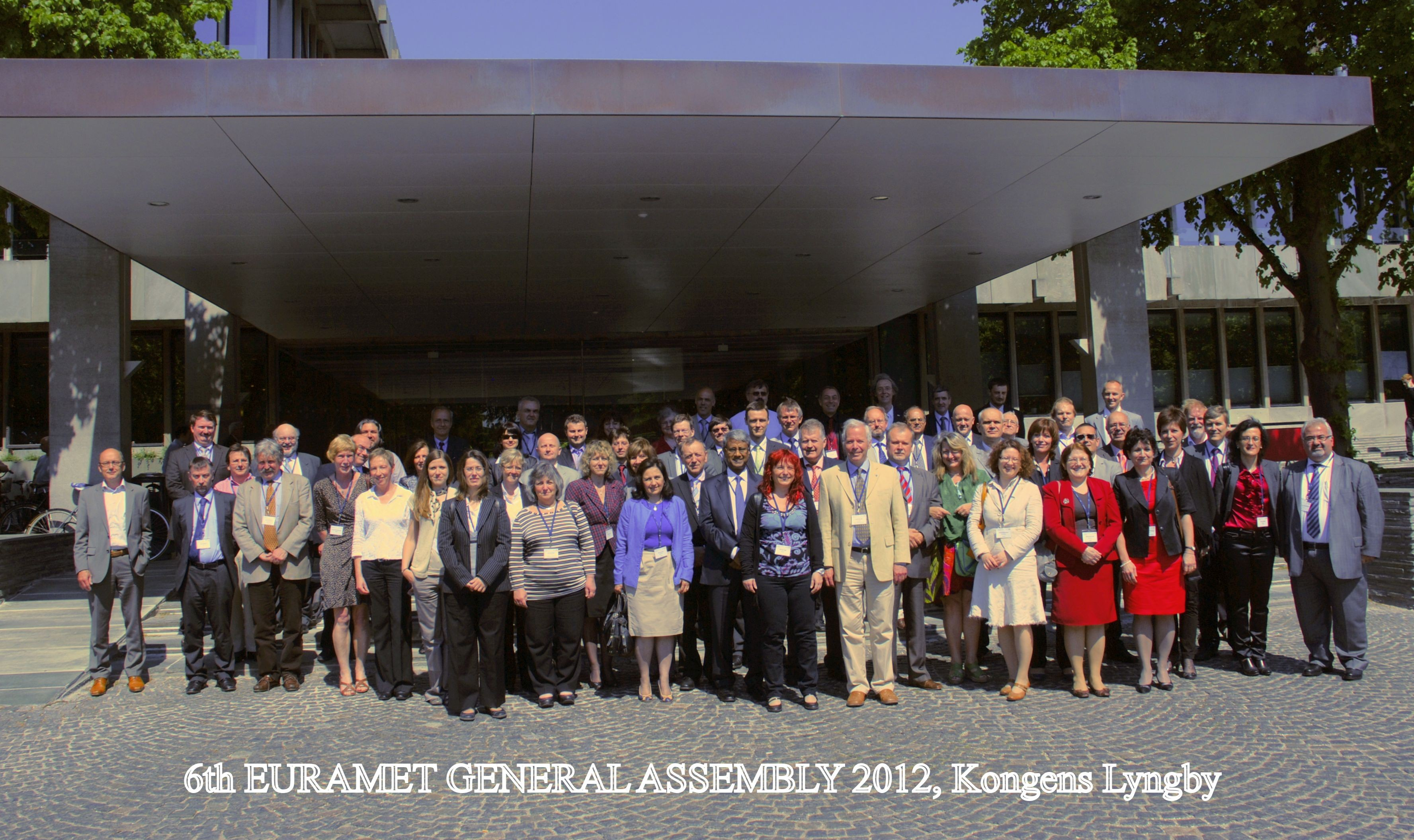 Participants EURAMET General Assembly Kgs. Lyngby 2012